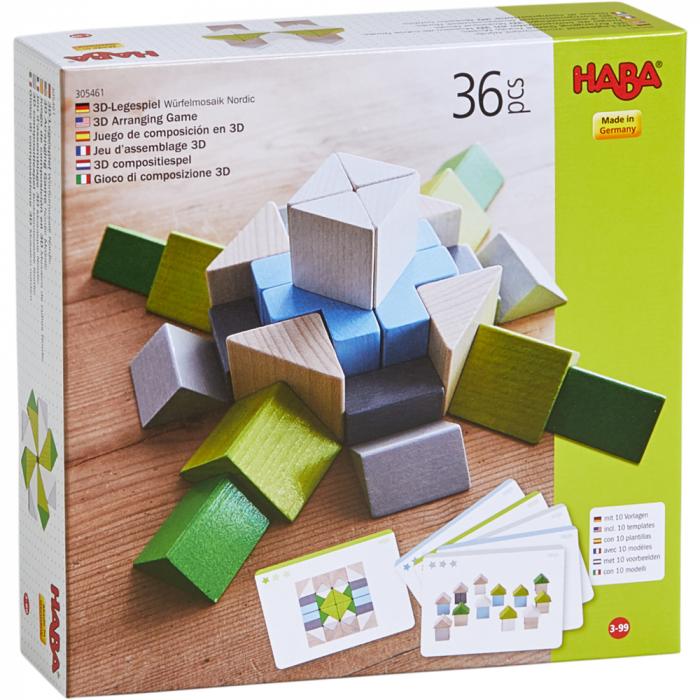 Joc 3D creativitate mozaic nordic, Haba 0