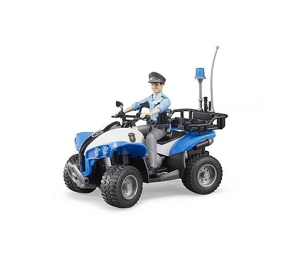 Jucarie ATV de politie cu figurina politist si accesorii Bruder 3