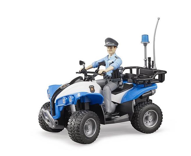 Jucarie ATV de politie cu figurina politist si accesorii Bruder 0