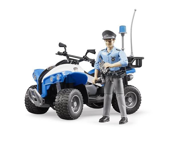 Jucarie ATV de politie cu figurina politist si accesorii Bruder 1
