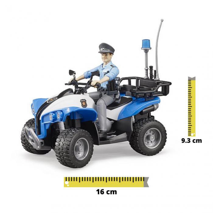 Jucarie ATV de politie cu figurina politist si accesorii Bruder [0]