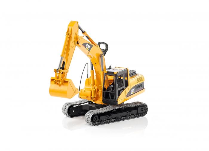 Excavator interior/exterior CAT galben cu cupa detasabila, Bruder [1]