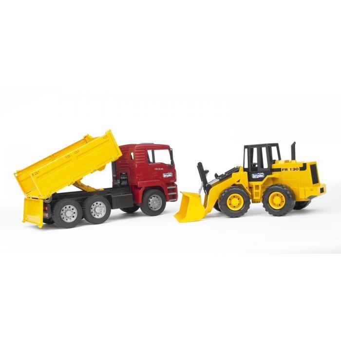 Camion cu buldoexcavator MAN TGA 1