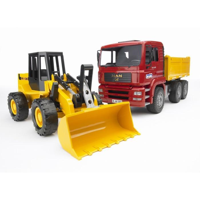 Camion cu buldoexcavator MAN TGA 0