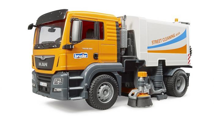 Jucarie camion curatare stradala MAN TGS. Bruder 0