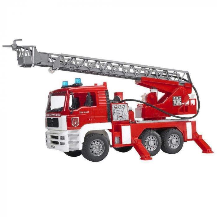 Jucarie Camion de pompieri  MAN TGA, cu pompa de apa si modul de lumini si sunet. Dimensiuni 47 x 17.5 x 24.2 cm 0