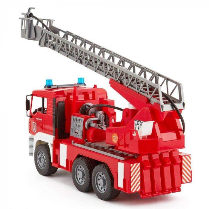 Jucarie Camion de pompieri  MAN TGA, cu pompa de apa si modul de lumini si sunet. Dimensiuni 47 x 17.5 x 24.2 cm 1