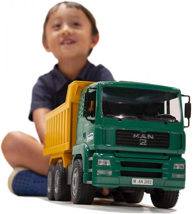 Jucarie Camion MAN TGA cu basculanta, Bruder [3]
