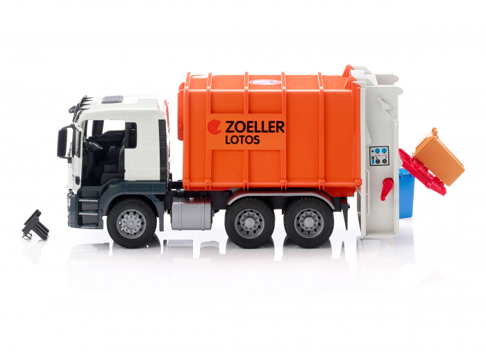 Jucarie camion MAN TGS model gunoi, Bruder 0