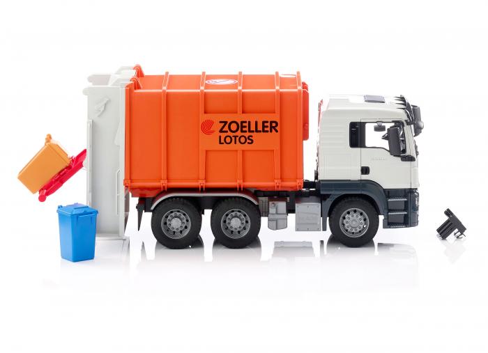 Jucarie camion MAN TGS model gunoi, Bruder 2