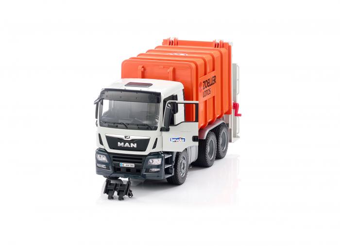 Jucarie camion MAN TGS model gunoi, Bruder 1