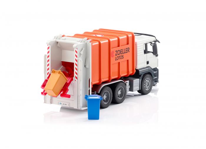 Jucarie camion MAN TGS model gunoi, Bruder 3