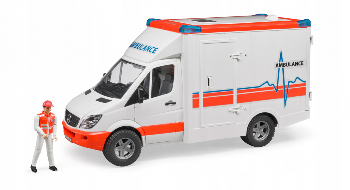 Duba Mercedes Benz sprinter ambulanta cu sofer Bruder 0