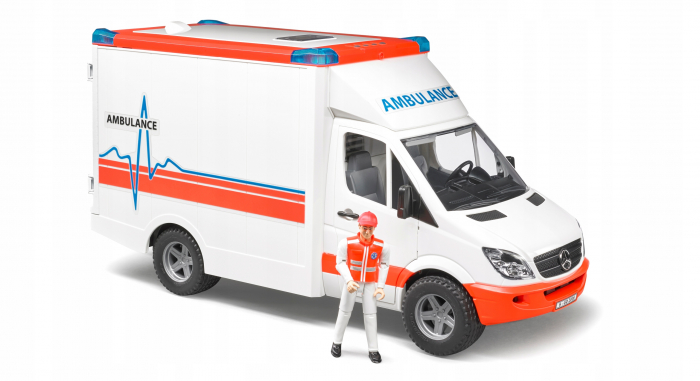 Duba Mercedes Benz sprinter ambulanta cu sofer Bruder 1