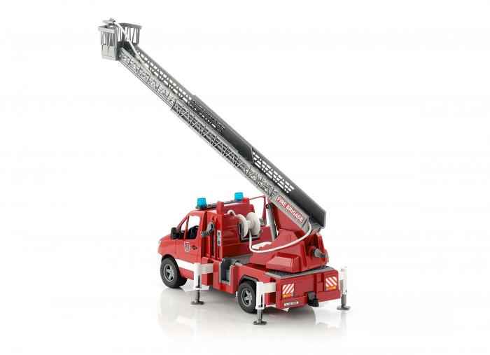 Duba Mercedes Benz Sprinter de pompieri cu pompa de apa, modul de lumini si sunet 4