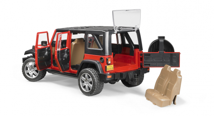 Jucarie Jeep Wrangler rosu Unlimited Rubicon Bruder [3]