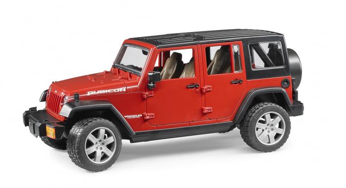 Jucarie Jeep Wrangler rosu Unlimited Rubicon Bruder [1]