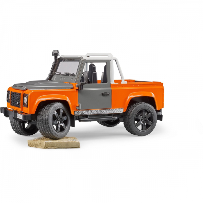 Jucarie Jeep Land Rover Defender portocaliu Pick Up 1