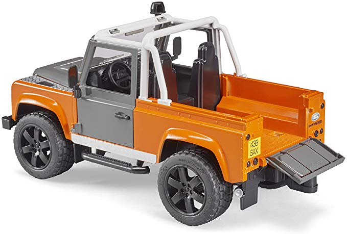 Jucarie Jeep Land Rover Defender portocaliu Pick Up 2