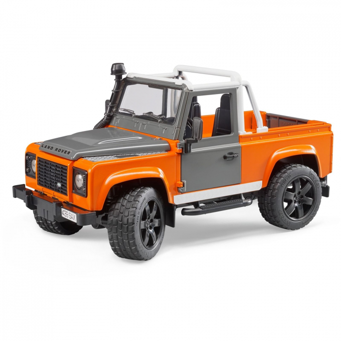 Jucarie Jeep Land Rover Defender portocaliu Pick Up 0