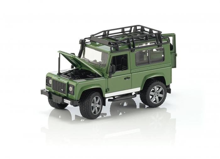 Jucarie Jeep Land Rover Defender verde Station Wagon Bruder 0