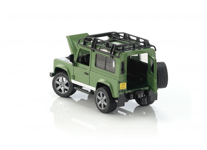 Jucarie Jeep Land Rover Defender verde Station Wagon Bruder 2