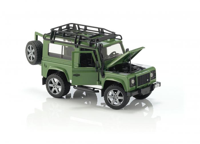 Jucarie Jeep Land Rover Defender verde Station Wagon Bruder 1