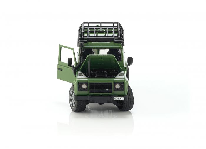 Jucarie Jeep Land Rover Defender verde Station Wagon Bruder 3