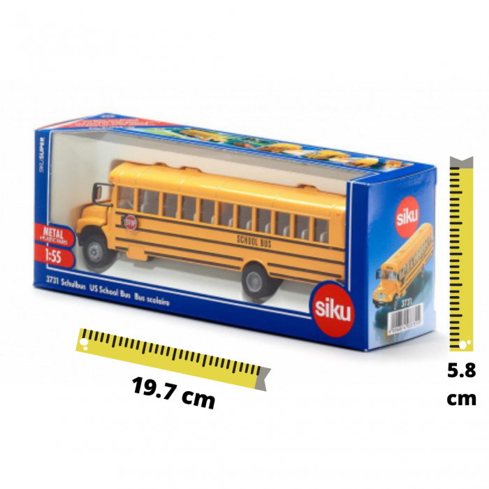 Jucarie macheta autobuz scolar, model USA, Siku [3]