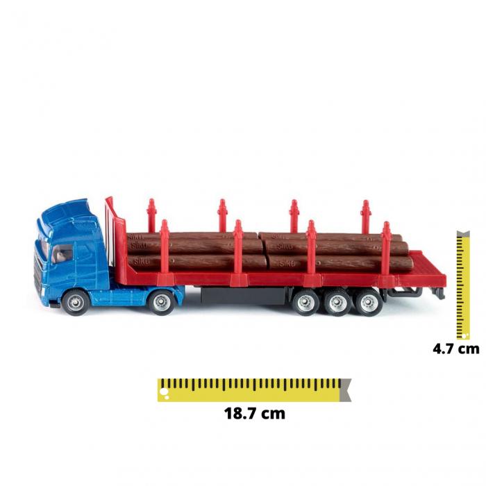 Jucarie macheta camion transporter busteni, Siku [0]