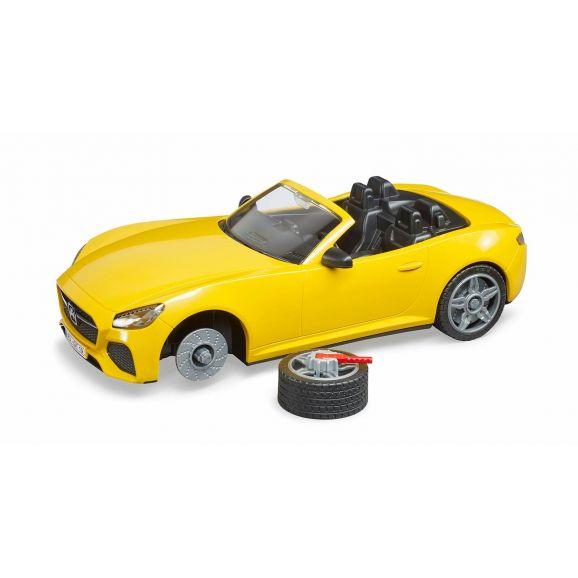 Jucarie masina galbena Roadster Bruder 3