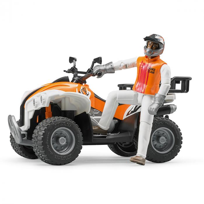 Jucarie Moto ATV cu figurina pilot Bruder 1
