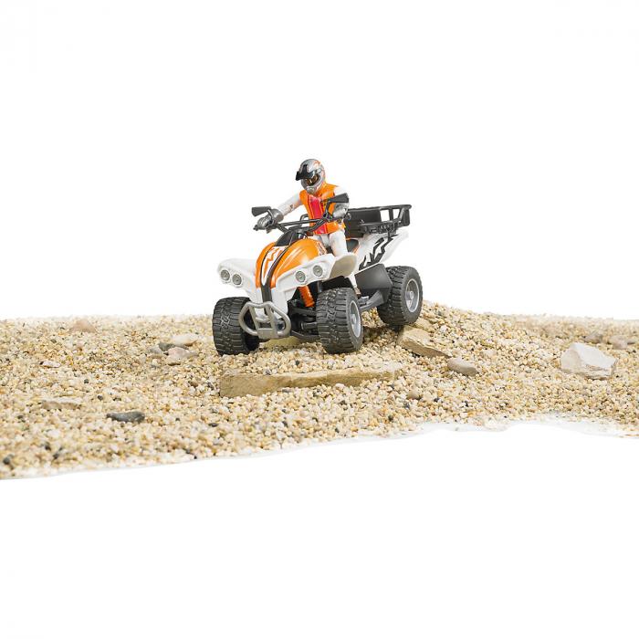 Jucarie Moto ATV cu figurina pilot Bruder 4