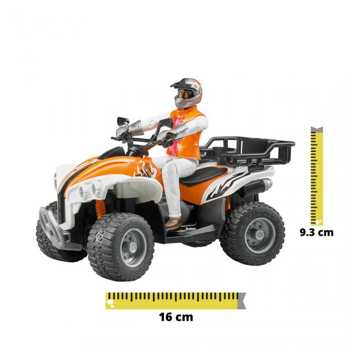 Jucarie Moto ATV cu figurina pilot Bruder [0]