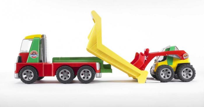 Jucarie transportor cu mini incarcator Roadmax, Bruder 1
