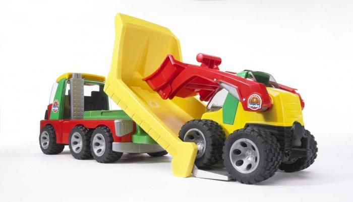 Jucarie transportor cu mini incarcator Roadmax, Bruder 3