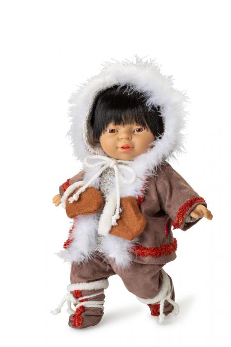 Papusa baietel Nunik, colectia Educativa Friends of the World, Berjuan luxury dolls 0