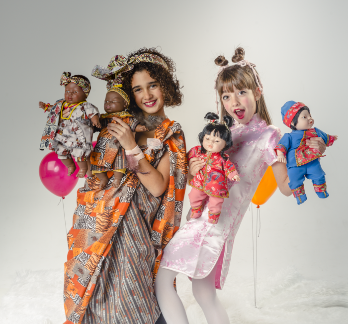 Papusa fetita Adanna, colectia Educativa Friends of the World, Berjuan luxury dolls 1