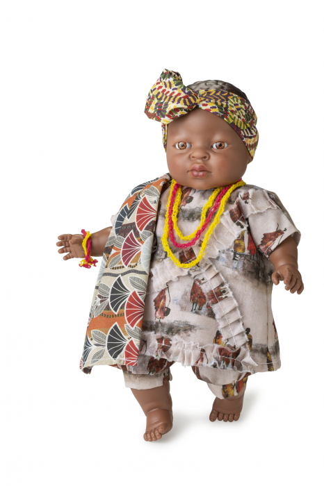 Papusa fetita Adanna, colectia Educativa Friends of the World, Berjuan luxury dolls 0