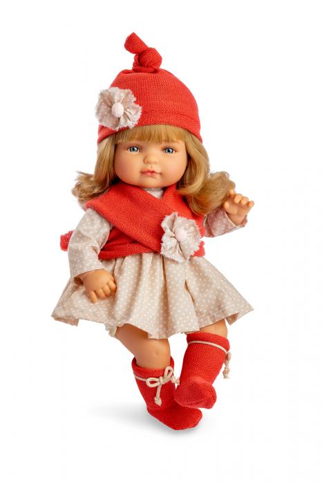 Papusafetita Claudia Rubia cu mecanism, colectia Boutique, Berjuan handmade luxury dolls 0