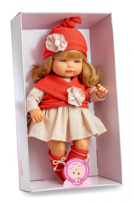 Papusafetita Claudia Rubia cu mecanism, colectia Boutique, Berjuan handmade luxury dolls 1