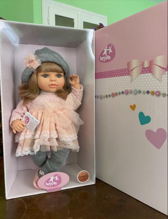 Papusa fetita Laura, colectia Boutique, Berjuan handmade luxury dolls 3