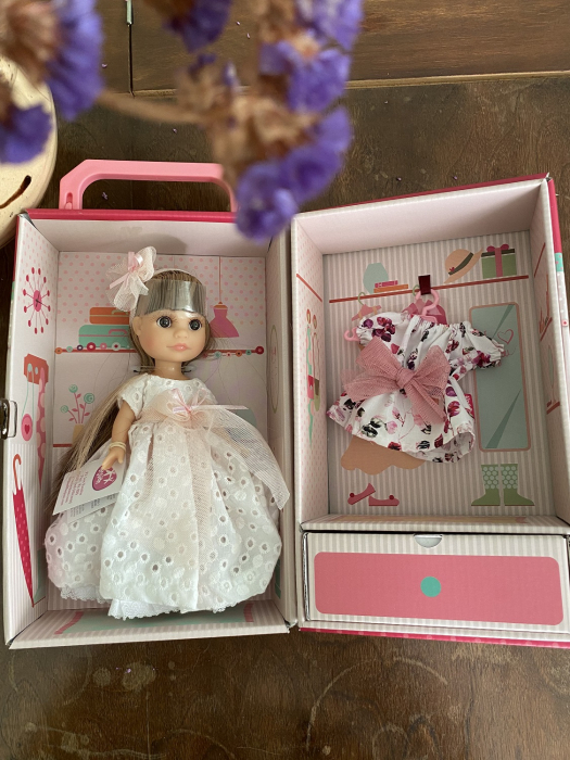 Papusa Luci, blonda, set colectia Boutique. Berjuan handmade luxury dolls 2