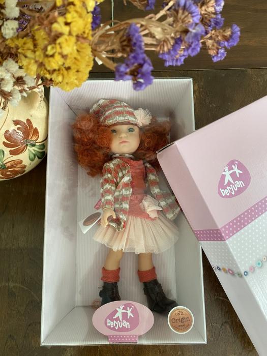 Papusa Pelirroja roscata, colectia MyGirl, Berjuan handmade luxury dolls 3