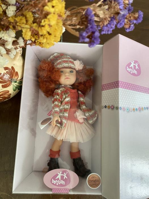 Papusa Pelirroja roscata, colectia MyGirl, Berjuan handmade luxury dolls 4