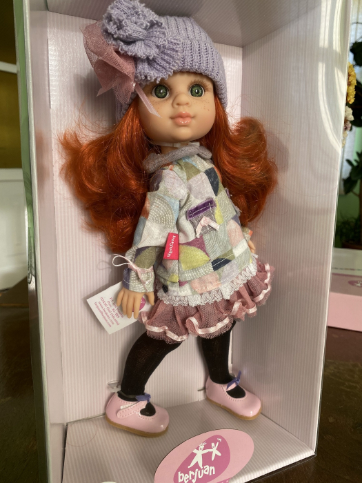 Papusa Pelirroja Lila, colectia My Girl, Berjuan handmade luxury dolls [3]