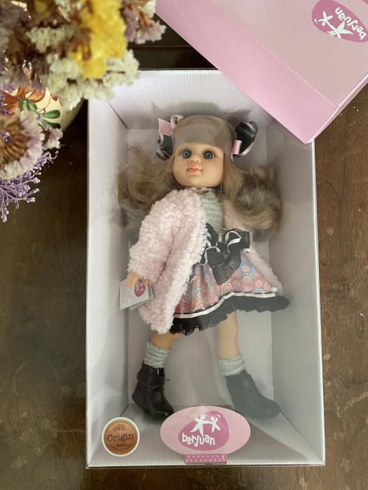 Papusa Rubia Abrigo, colectia My Girl, Berjuan handmade luxury dolls 3