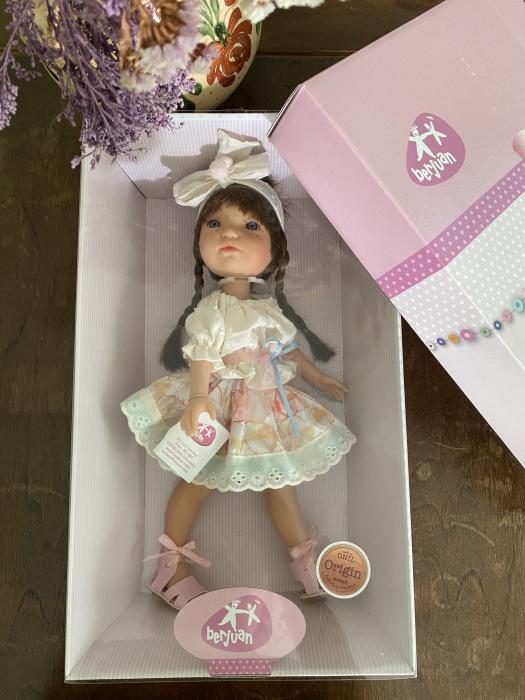 Papusa Trenzas, colectia My Girl, Berjuan handmade luxury dolls 2