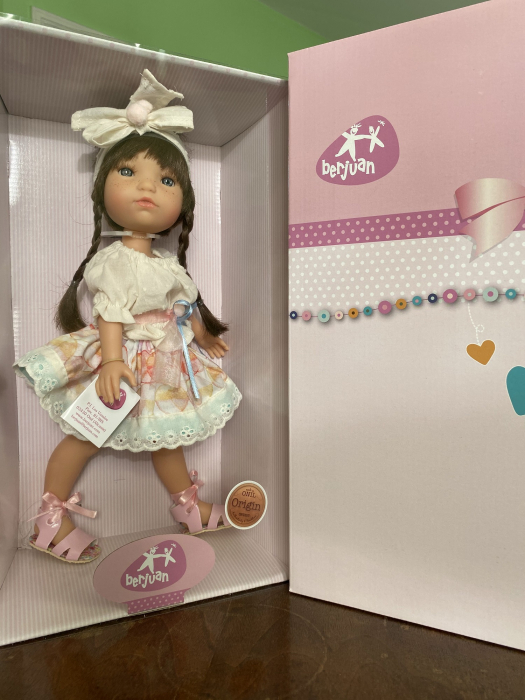 Papusa Trenzas, colectia My Girl, Berjuan handmade luxury dolls 3