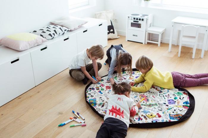 Patura de joaca 3 in 1 Play &Go, plansa de colorat, rucsac de depozitat 2